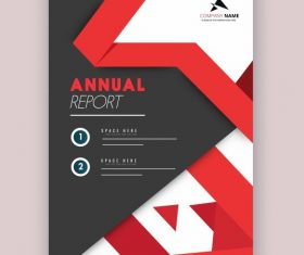 Company annual report template elegant modern vector