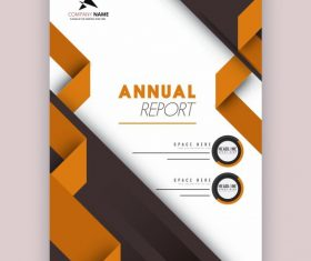 Annual report template modern elegant 3d decor design vectors