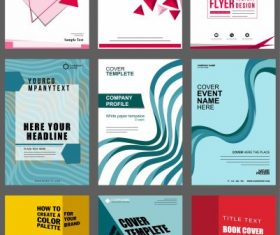 Brochure covers templates modern abstract 3d geometric theme illustration vector