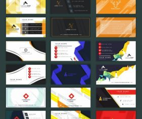 Business card templates collection modern colorful elegant vector