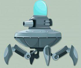 Spacecraft modern equipped weapon design vectors