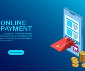 Online payment with mobile protection money in cellphone transactions modern flat isometric illustration vector