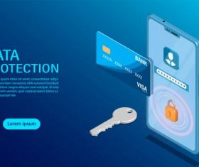 confidentiality with high security flat isometric illustration vector