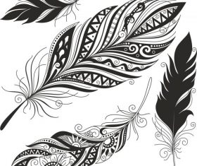 Feather set free cdrs art design vector