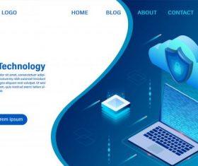 Cloud computing technology concept digital service or app vector