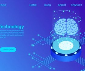 Artificial intelligence technology concept data vector