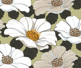 Flowers background blossom classical vector design