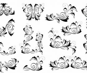 Document decorative templates curves set vector