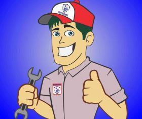 Mechanic boy logo for free by official shahg abid ali shah vectors material
