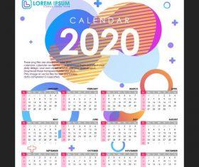 Calendar 2020 set vector