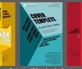 Corporate brochure templates colored modern 3d effect design vectors
