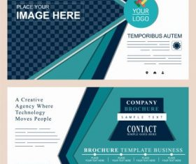 Corporate brochure templates modern colorful abstract vector set