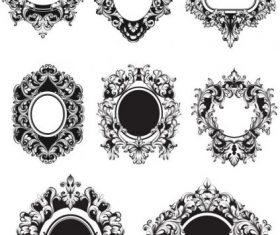 Barocco frame free cdrs ar vector set