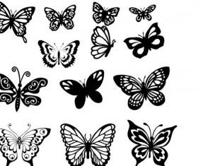 Butterfly set free cdrs art vector