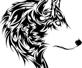 Wolf stencil free cdrs art vector