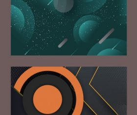 Decorative background modern technology abstract vector design