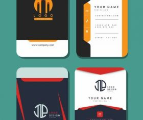 Business card templates vertical vector