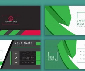 Business card templates dark bright technology design vectors