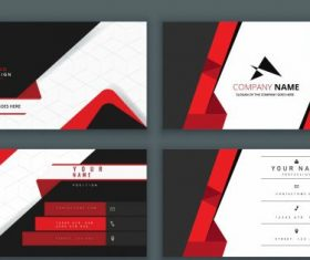 Business cards templates luxury contrast vector