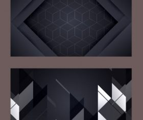 Technology background modern dark geometric abstract vector