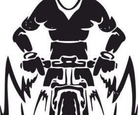Mountain bike free vector