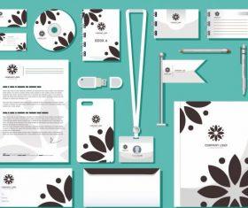 Branding identity sets flat petals vector