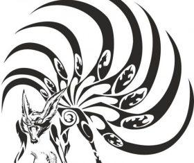 Naruto kyubi art vectors