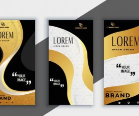 Corporate brochure templates curves modern vector graphics