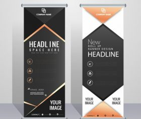 Corporate banner templates contemporary vertical vector