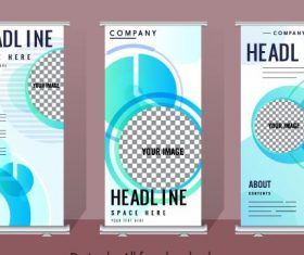 Corporate banners templates modern flat checkered vertical vector