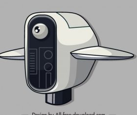 Robot airplane shaped vector
