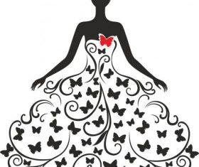 Wedding silhouette free cdrs art design vectors