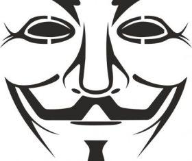 Vendetta mask logo free vectors
