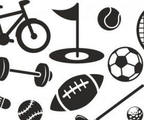 Sport set free vector