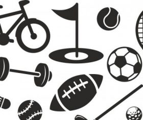 Sport set free vector silhouettes