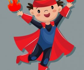 Magic kid cute cartoon character illustration vector