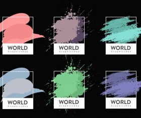 Color code templates grunge vector