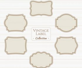 Vintage label collection illustration vector