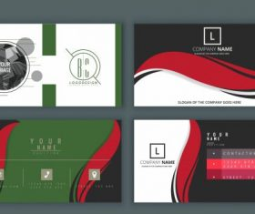 Name card cover templates modern flat vector