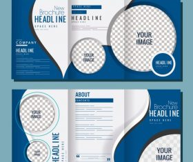 Company brochures checkered circles curves vector