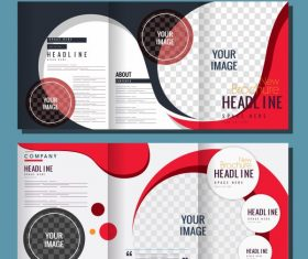 Corporate brochure templates curves vector