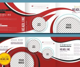 Corporate modern trifold circle checkered vector