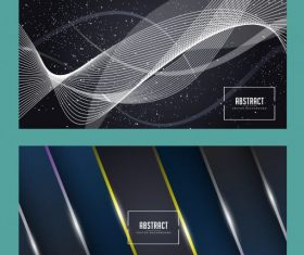 Decorative abstract backgrounds modern shiny dynamic vector