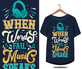 Vintage quote motivational typography fort shirt vector