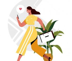 Lifestyle background shopping woman vector