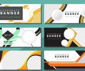 Corporate banners templates modern abstract geometric vector