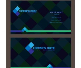 Business card template dark colorful blurred checkered vectors