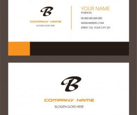 Business card template simple plain set vector