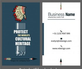 Business card template ethnic elements vector