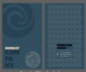 Business card template abstract twist shapes vector